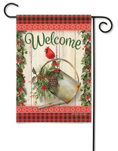 Holiday Watering Can Outdoor Garden Flag