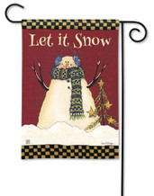 BreezeArt Primitive Snowman Outdoor Garden Flag