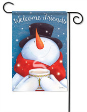 Hot Cocoa Welcome Winter Garden Flag