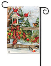 BreezeArt Winter Gathering Outdoor Garden Flag