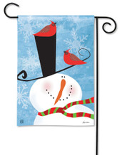 BreezeArt Snowman Whimsy Outdoor Garden Flag