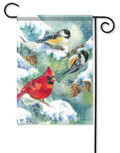 Winter Bird Trio Decorative Garden Flag