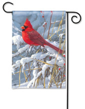 BreezeArt Cardinal in Snow Outdoor Garden Flag