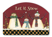 Primitive Snowman Yard Sign
