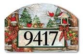 Winter Gathering Home Address Sign