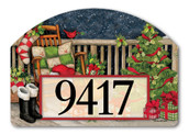 Santa's Porch Home Address Sign