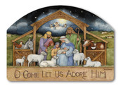 Holy Family Christmas Yard Sign