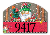 Jolly Santa Yard DeSign Christmas Address Sign