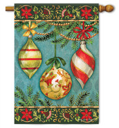 Glittering Ornaments Outdoor Christmas House Flag