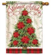 Warmest Wishes Tree Decorative House Flag