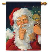 Santa Wink Decorative Christmas House Flag