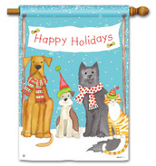 BreezeArt Pet Holiday Christmas Outdoor House Flag