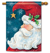 BreezeArt Santa Wishes Christmas Outdoor House Flag