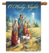 Holy Night Nativity Decorative House Flag