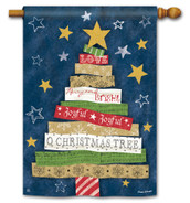 BreezeArt Songs of Christmas Outdoor House Flag