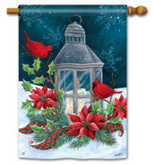 BreezeArt Cardinal Christmas Outdoor House Flag