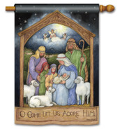 BreezeArt Holy Family Christmas Outdoor House Flag