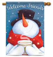 "Hot Cocoa Welcome House Flag - 28"" x 40"" - 2 Sided Message"