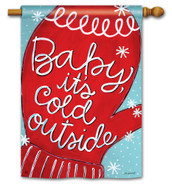 BreezeArt Baby It's Cold Outdoor House Flag