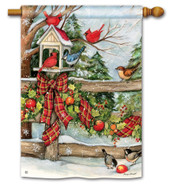 BreezeArt Winter Gathering Outdoor House Flag