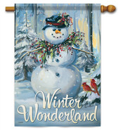 Winter Wonderland Decorative House Flag