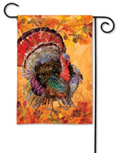 Thanksgiving Garden Flag Proud Turkey