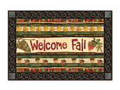 MatMates Doormat Falling Leaves Welcome