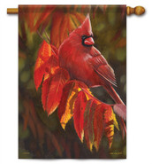 Cardinal In Red Decorative House Flag
