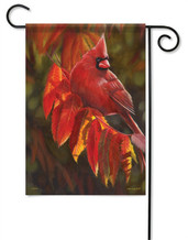 Cardinal In Red Decorative Garden Flag