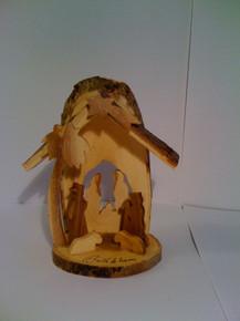 Nativity set glued