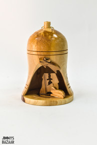 Three dimensional nativity ornament (bell-shaped)