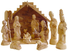 Nativity set with crib - medium