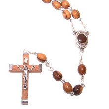 Wooden Rosary with dirt