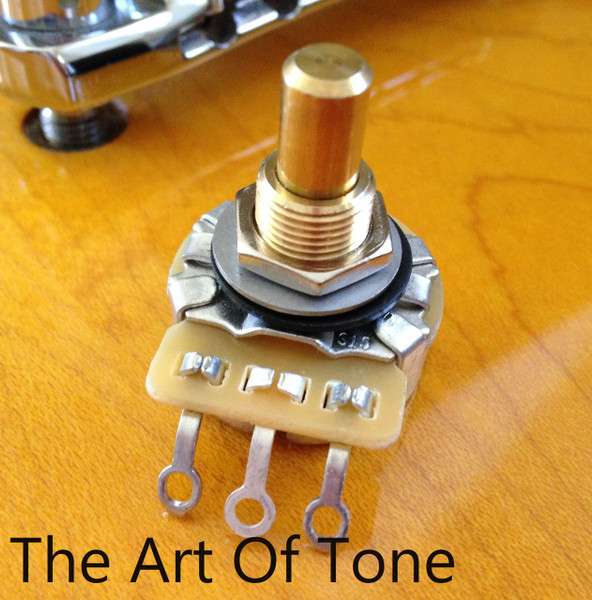CTS 500K Short Solid Shaft Pot The Art Of Tone TAOT CTS 500K Audio Pot Antonio Johnson Photography