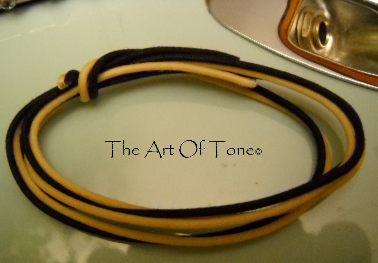 Gavitt Vintage-style stranded cloth push back wire 22ga for Fender® guitars The Art Of Tone TAOT Art Of Tone theartoftone antonio johnson photography tone johnson