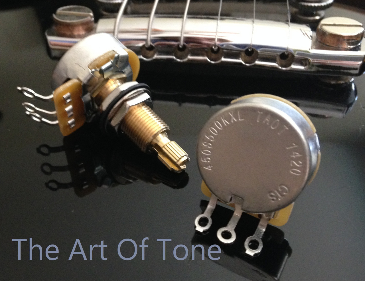 CTS TAOT Custom Series 500K Short Split Shaft Audio Taper Pots 450G CTS POTS  The Art Of Tone TAOT