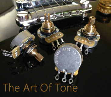CTS TAOT Custom 525K Short Split Shaft Audio Taper Pots 500K 5% Tolerance The Art Of Tone theartoftone.com taot zemaitis zemaitis guitar  zemaitis guitar company antonio johnson photography tone johnson