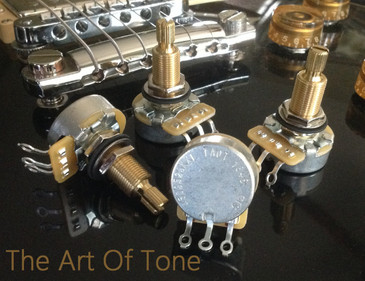 CTS Custom Spec'd 525K Long Split Shaft Audio Taper Pots 500K  The Art Of TOne  Zemaitis Guitar