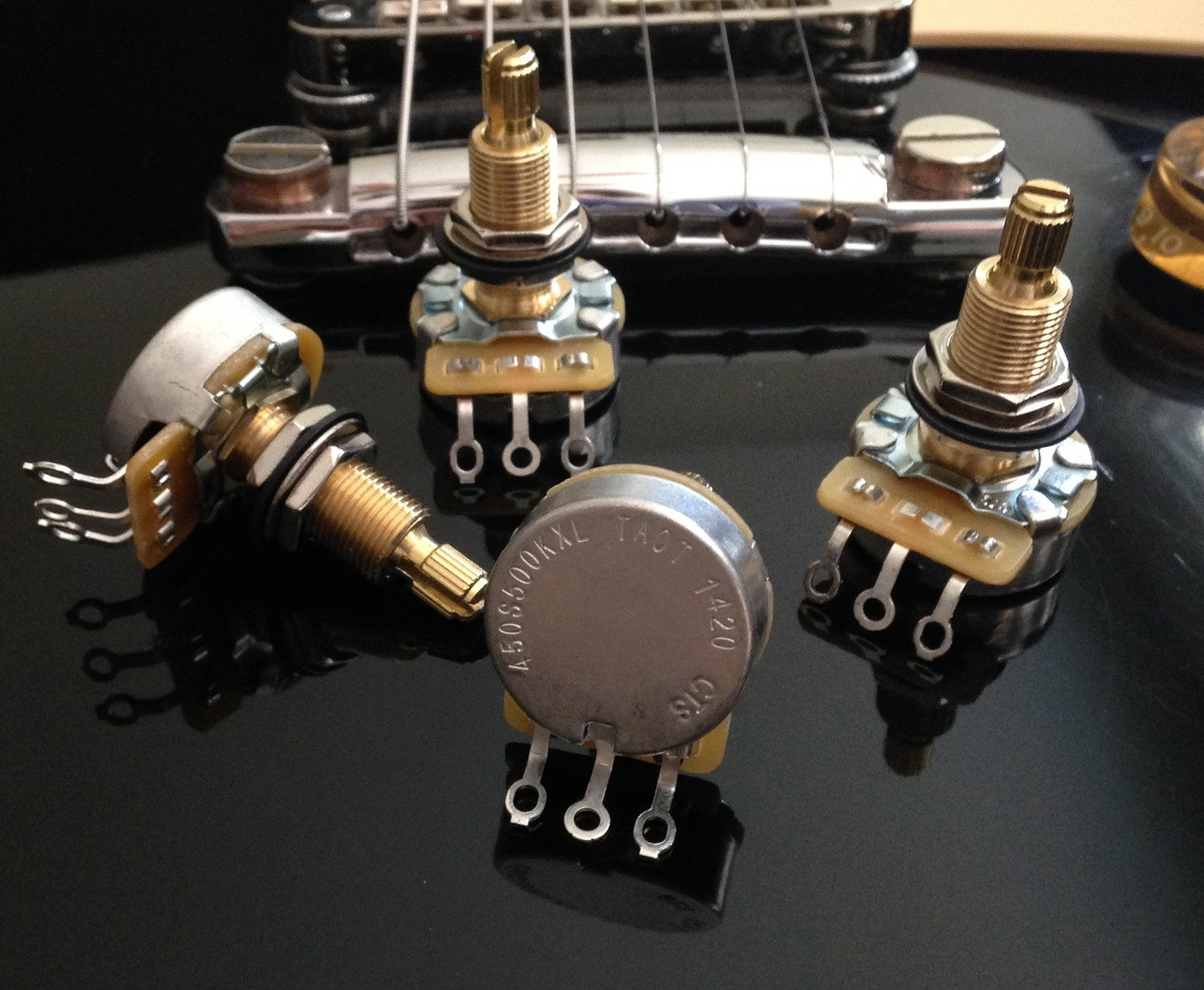 CTS 450G 500KXL Long shaft Potentiometers  The Art Of Tone