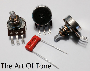Bourns 250K Short Split Shaft Audio Pot PDB-241-GTR01-254A2 with .022uF 400v 716P Orange Drop Capacitor