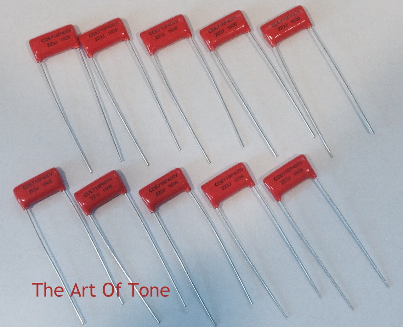 Bulk Lot of 10 Orange Drop .022uf@400V Polypropylene Capacitors - Cornell Dubillier (CDE)