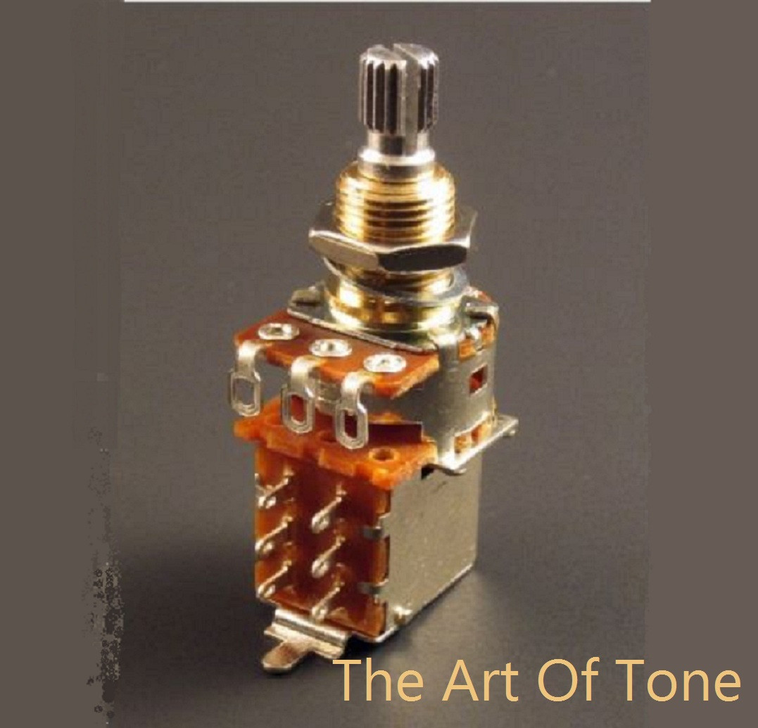 Bourns 500K push-pull (DPDT) short shaft pot. The Art Of TOne