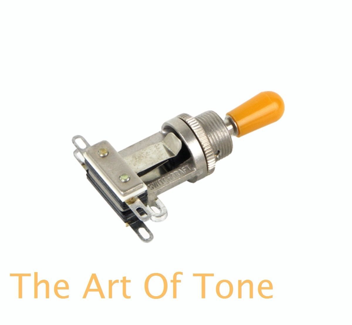 Switchcraft Short Frame Toggle with amber switch tip - The Art Of Tone