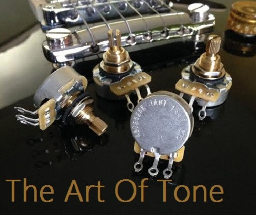 CTS 525K Short Shaft Pots - 450G/450S  The Art Of Tone TAOT ART OF TONE Zemaitis guitars Antonio Johnson Photography