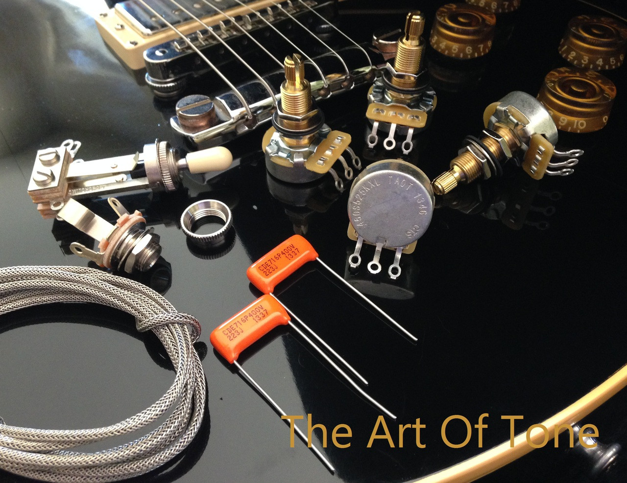TAOT Wiring Kit - Gibson Les Paul - Long Shaft - CTS 450G 525K Pots ...
