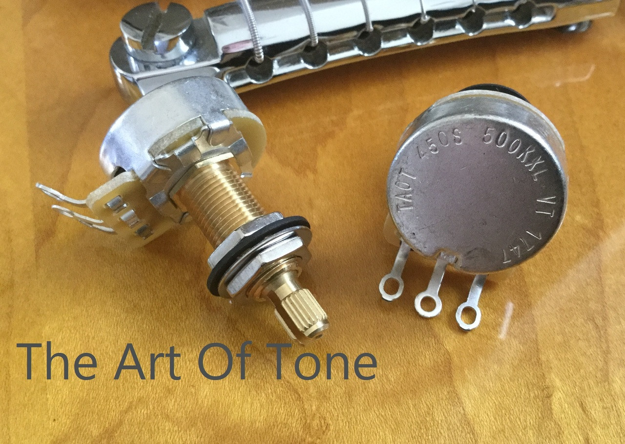 CTS TAOT CUSTOM Vintage Taper Long Shaft Pot  The Art Of Tone  Zemaitis Guitar  Antonio Johnson Photography