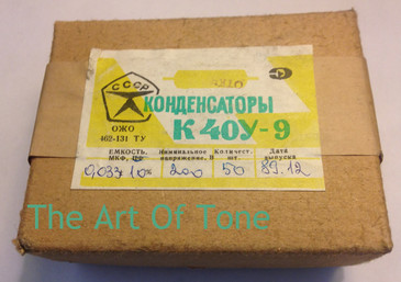 Russian K40Y-9 .033uf@200v The Art Of Tone TAOT THEARTOFTONE ANTONIO JOHNSON PHOTOGRAPHY