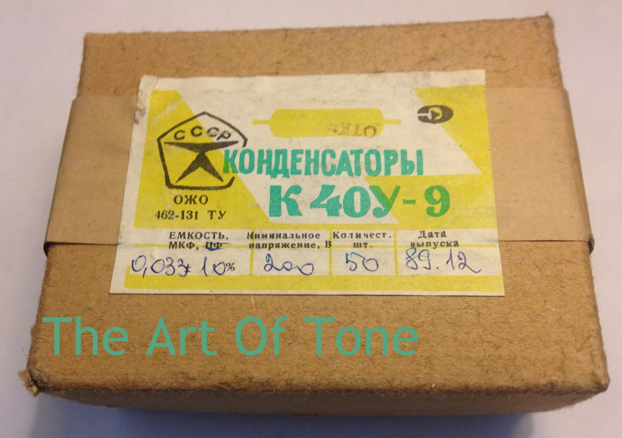 Russian K40Y-9 .033uf@200v The Art Of Tone TAOT THEARTOFTONE Antonio Johnson Photography