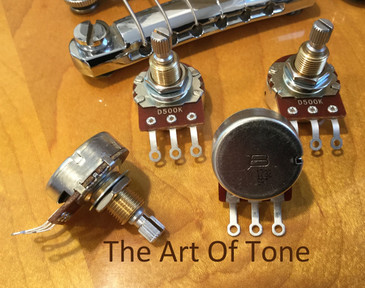 Bourns 500K pro audio short split audio taper pot PDA241-GTR01-504A2 The Art Of Tone TAOT Antonio Johnson Photography Tone Johnson Zemaitis Guitar Company Zemaitis Guitar