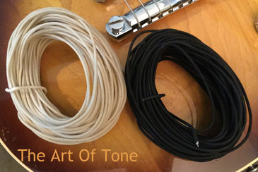 Genuine Gavitt Vintage-style push back cloth wire 22awg 7-strand tinned The Art Of Tone TAOT Art Of Tone Antonio Johnson Photography Zemaitis Zemaitis Guitars
